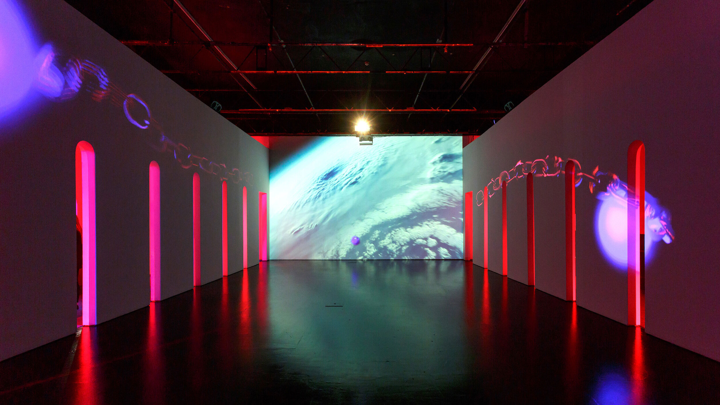Rachel Rossin, Stalking The Trace, 2019. Exhibition installation view Zabludowicz collection, London. Courtesy Zabludowicz Collection, London. Photo: Tim Bowditch.