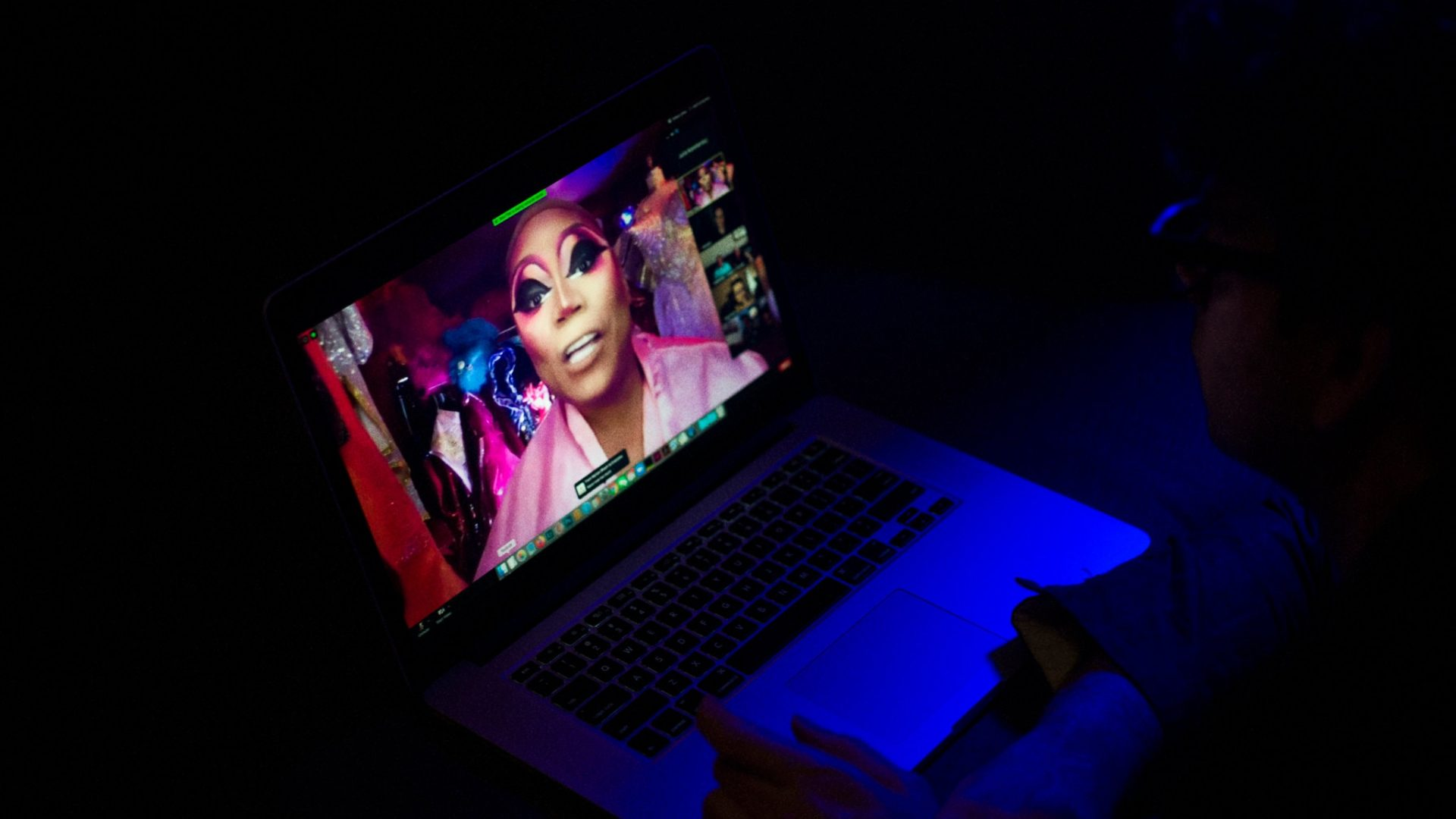 """Eschaton - The drag queen Brita Filter was a celebrity guest in one """"room.""""Credit Ioulex for The New York Times."""