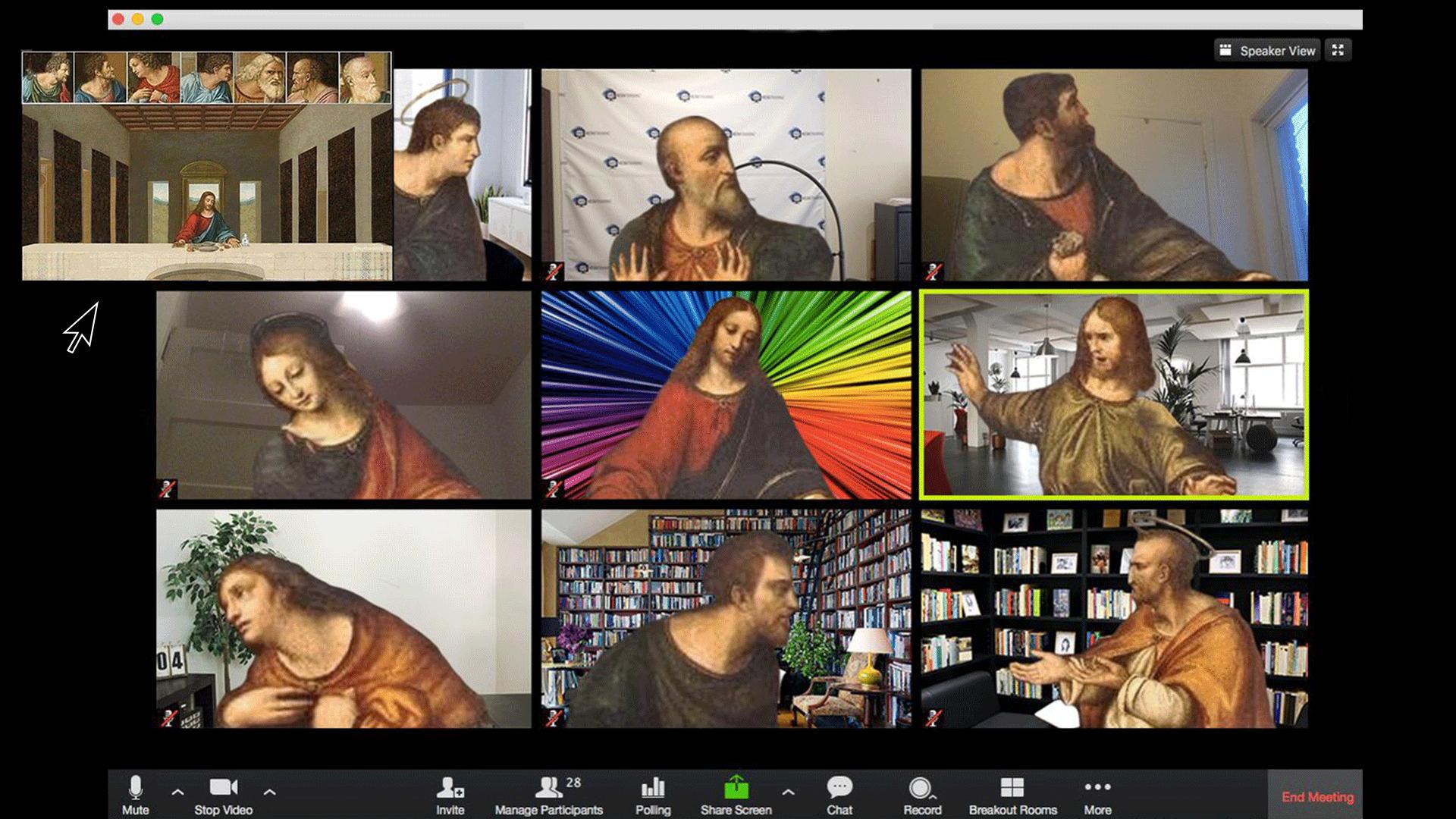 Leonardo's Last Supper on Zoom.